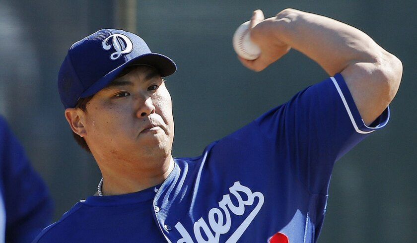 Hyun-Jin Ryu had surgery to remove damaged tissue in his left elbow last year during his setback-laden attempt to return from shoulder surgery.