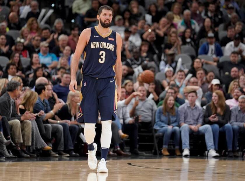 En la imagen, el jugador Nikola Mirotic de New Orleans Pelicans. EFE/Archivo