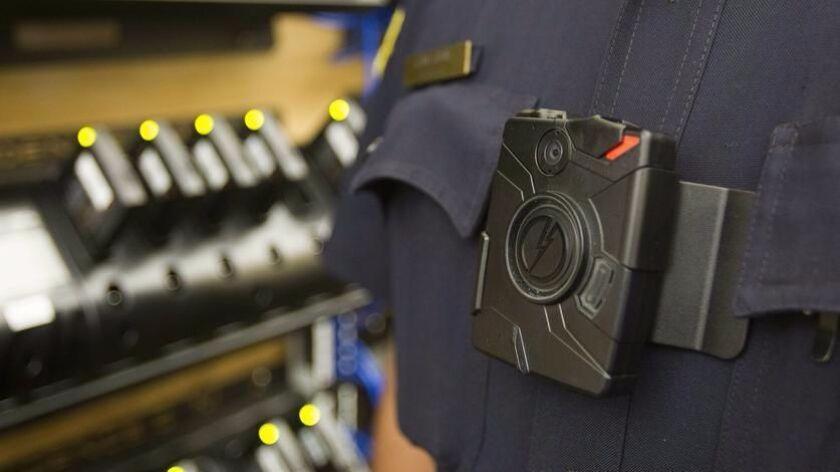 A body camera on a San Diego officer.