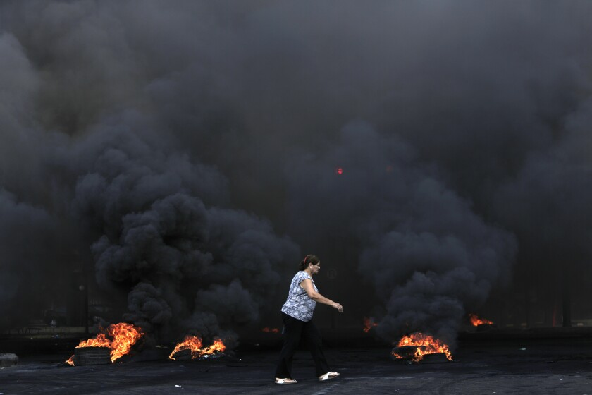 APTOPIX Lebanon Protests