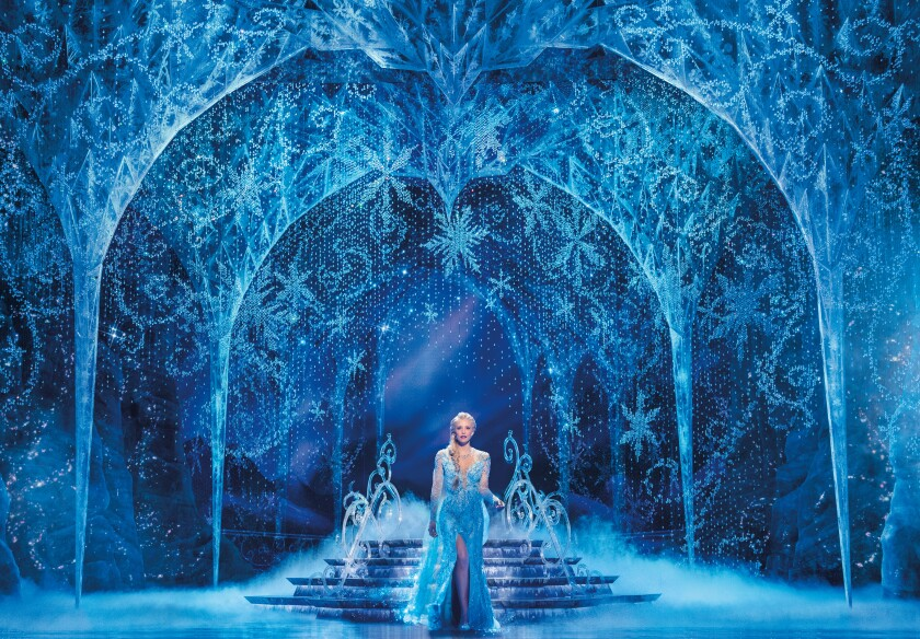 "Caroline Bowman is Elsa in the ""Frozen"" musical North American tour, now at the Hollywood Pantages."