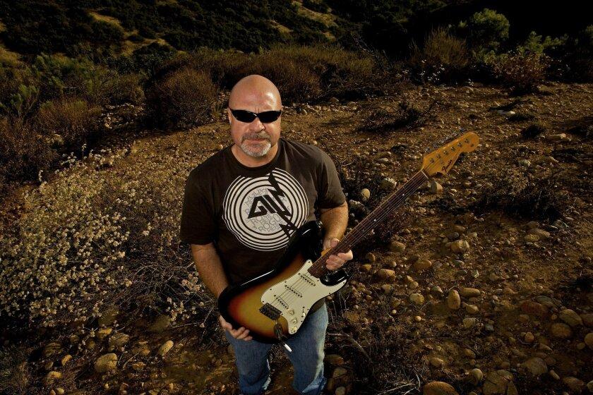 Greg Dorsett of San Diego wants $500,000 for this Jimi Hendrix guitar. (Brent Haywood)
