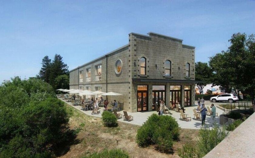 Artist's rendering of Stone Brewing's Napa location.