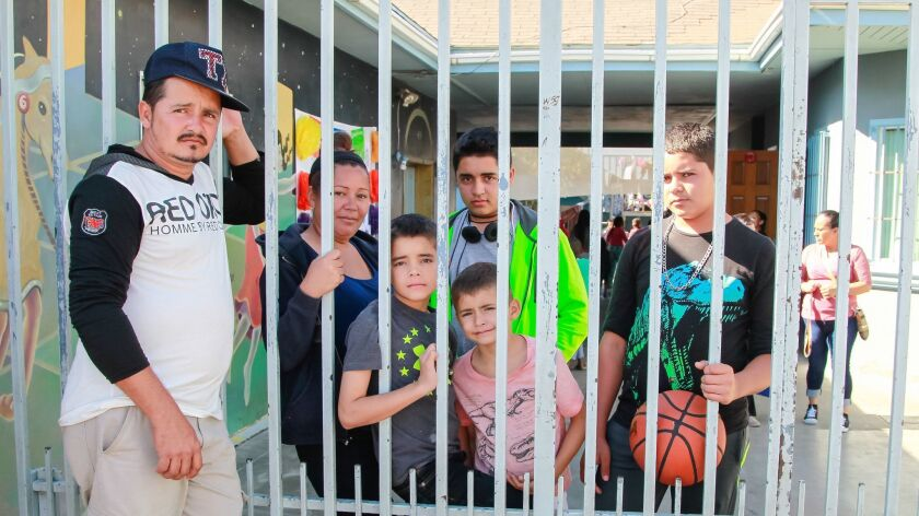 SAN DIEGO, CA October 31st, 2018 | Honduran Dany Rigoberto Alvarado (left), 35, visits his family at