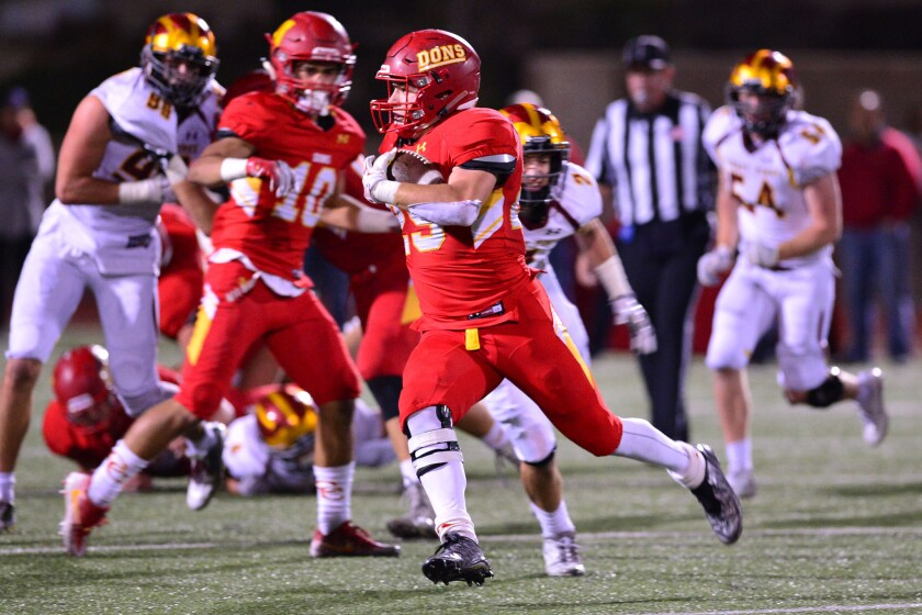 Adam Eastwood scored the Don's first touchdown.