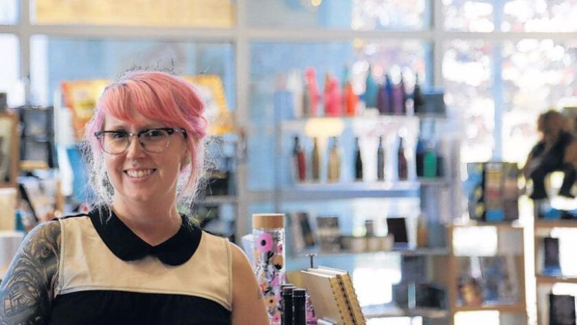 Kimberly Carroll is the buyer at The Library Store, inside the Central San Diego Public Library, in