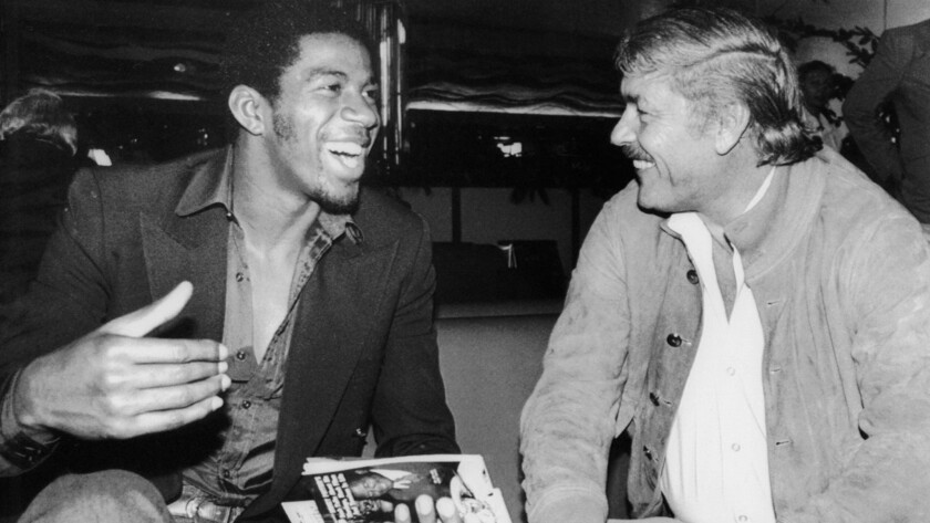 At LAX, on the eve of the clincher, Magic Johnson assured Lakers owner Jerry Buss and his teammates that all would be fine in the absence of Kareem Abdul-Jabbar.