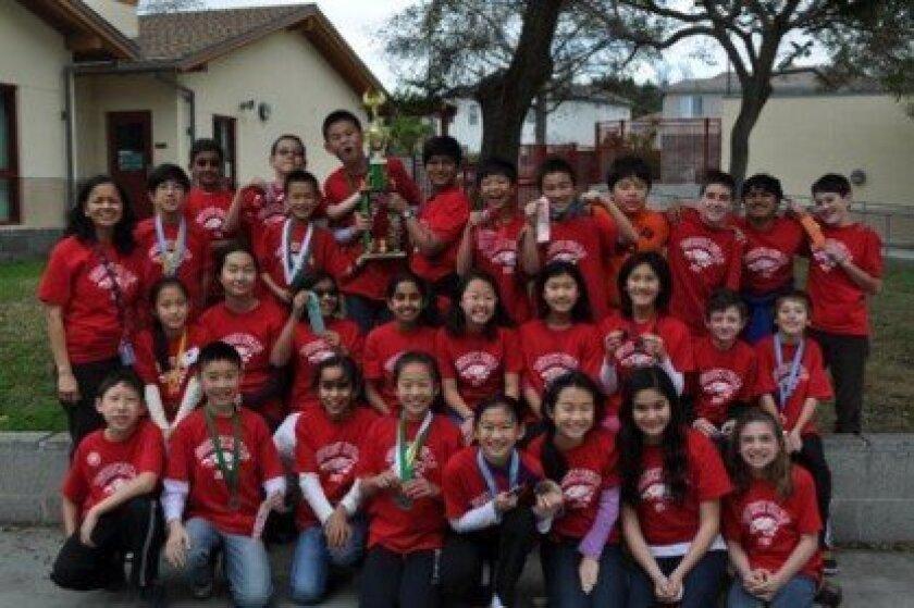 The Torrey Hills Science Olympiad Team.