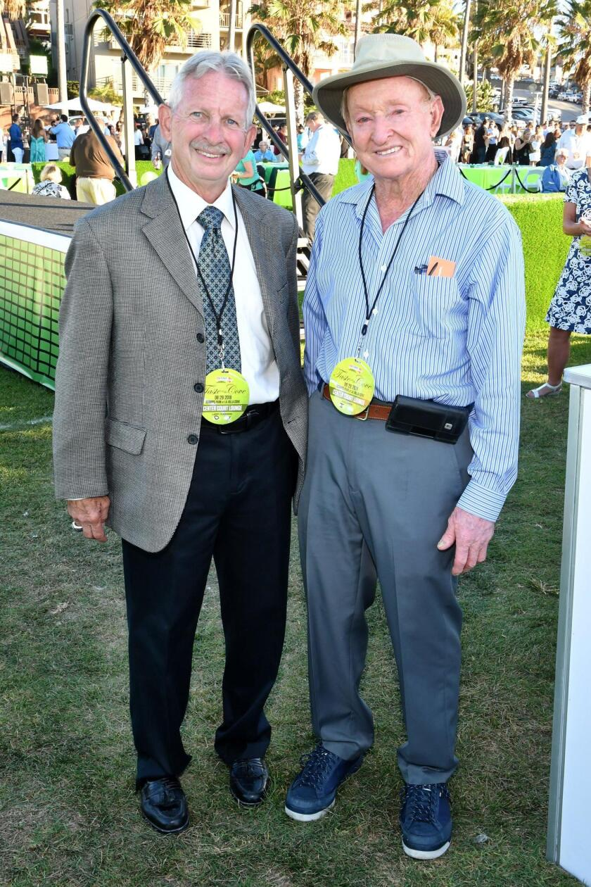 Event honorees: Community Legend Larry Duensing, and Medical Champion Rod Laver