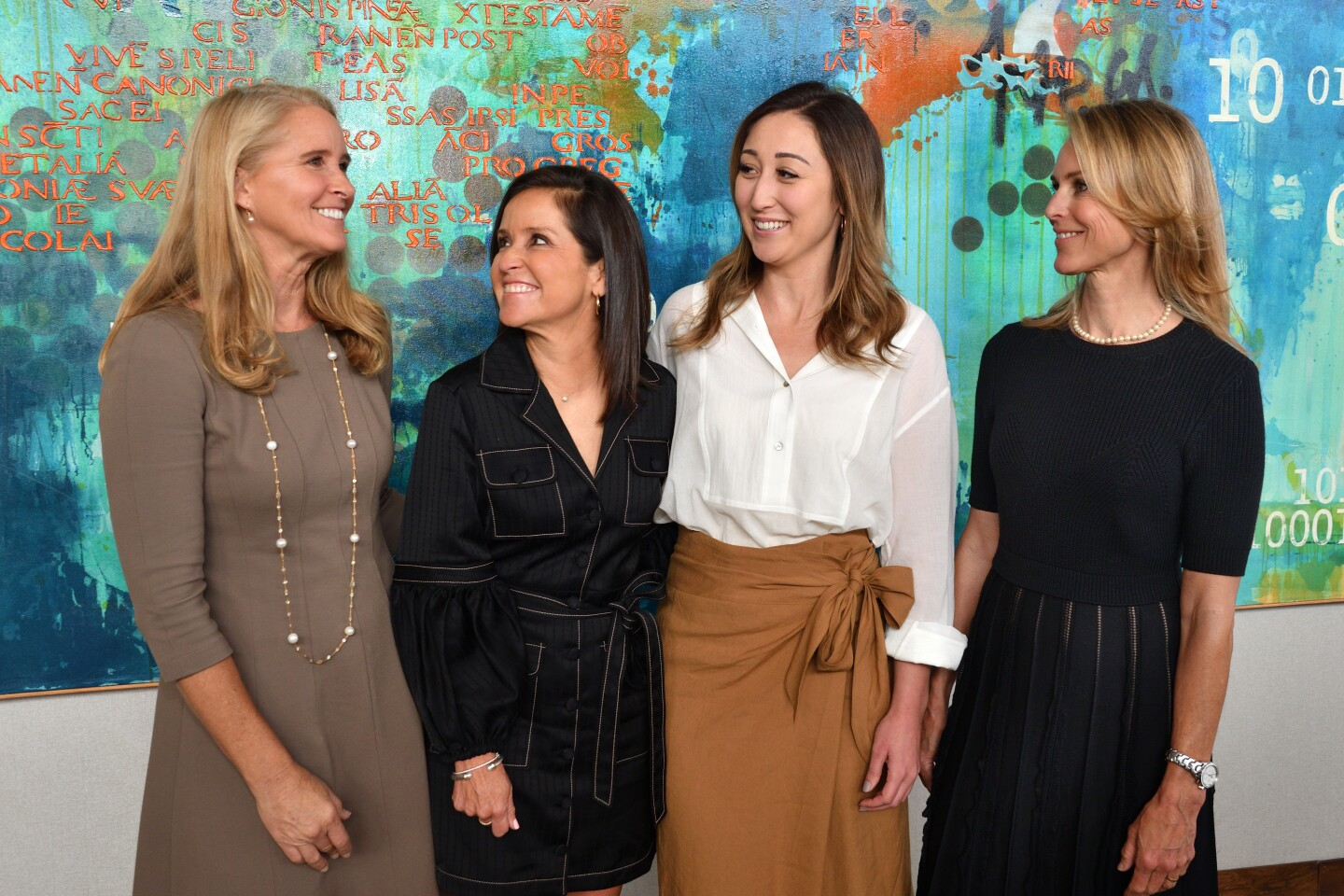 New St. Germaine President Katie Christensen (second from right) with Wendy Neri, Stefanie Bedingfield and Bronwyn Jarvis