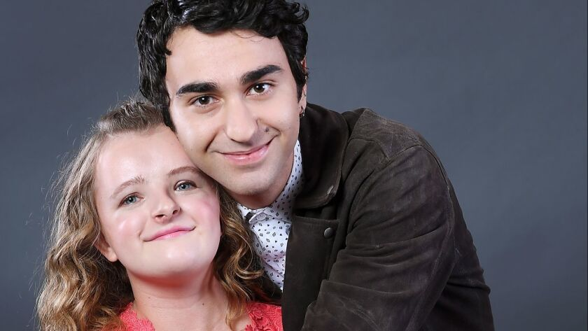 Actors Milly Shapiro, left, and Alex Wolff of 'Hereditary' are photographed in Beverly Hills a year after filming the harrowing hit horror movie, in theaters now.