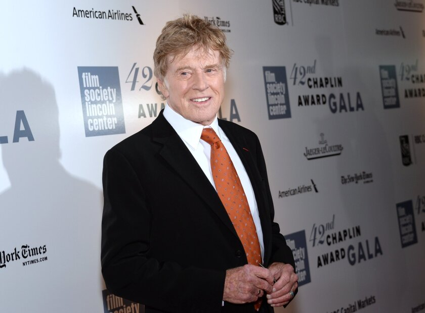 Robert Redford arrives at the 42nd annual Chaplin Award Gala at Alice Tully Hall in New York. Redford will narrate a giant-screen, 3-D film to promote tourism to the national parks.