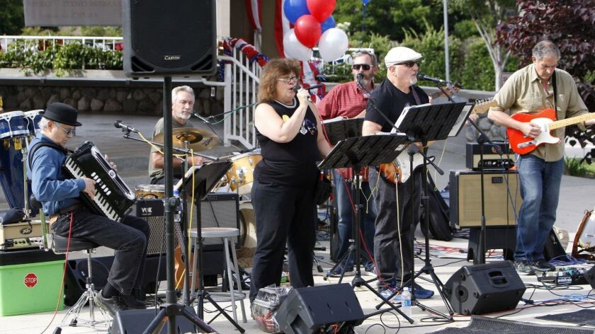 The band Misplaced Priorities belted out tunes for those in attendance at the 44th annual Memorial D