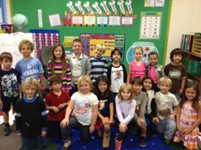 Students in Cristin Ebright's class at Del Mar Hills. Photo/Karen Billing