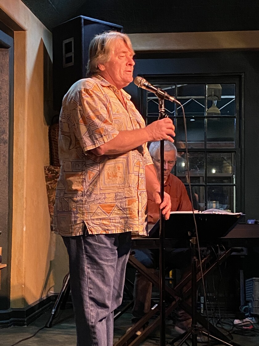 Cabaret enthusiast and singer Tim Moore hosts OpenMic Cabaret Monday nights at Hennessey's Tavern in La Jolla.