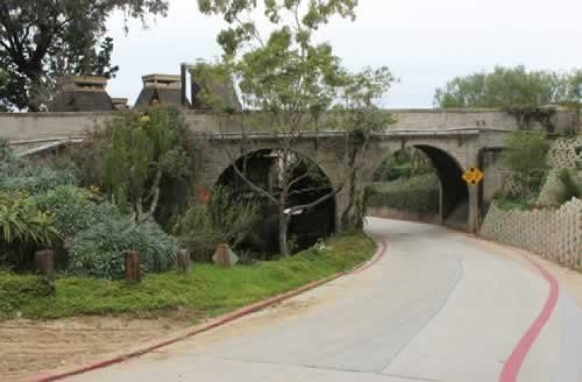 This bridge on Castellana Road (circa 1930) is included in a cultural landscape survey that La Jolla Historical Society members are hoping to have adopted by the city. The survey will serve as a tool to preserve La Jolla's landmarks when threatened by development or planning. Photos by Pat Sherman
