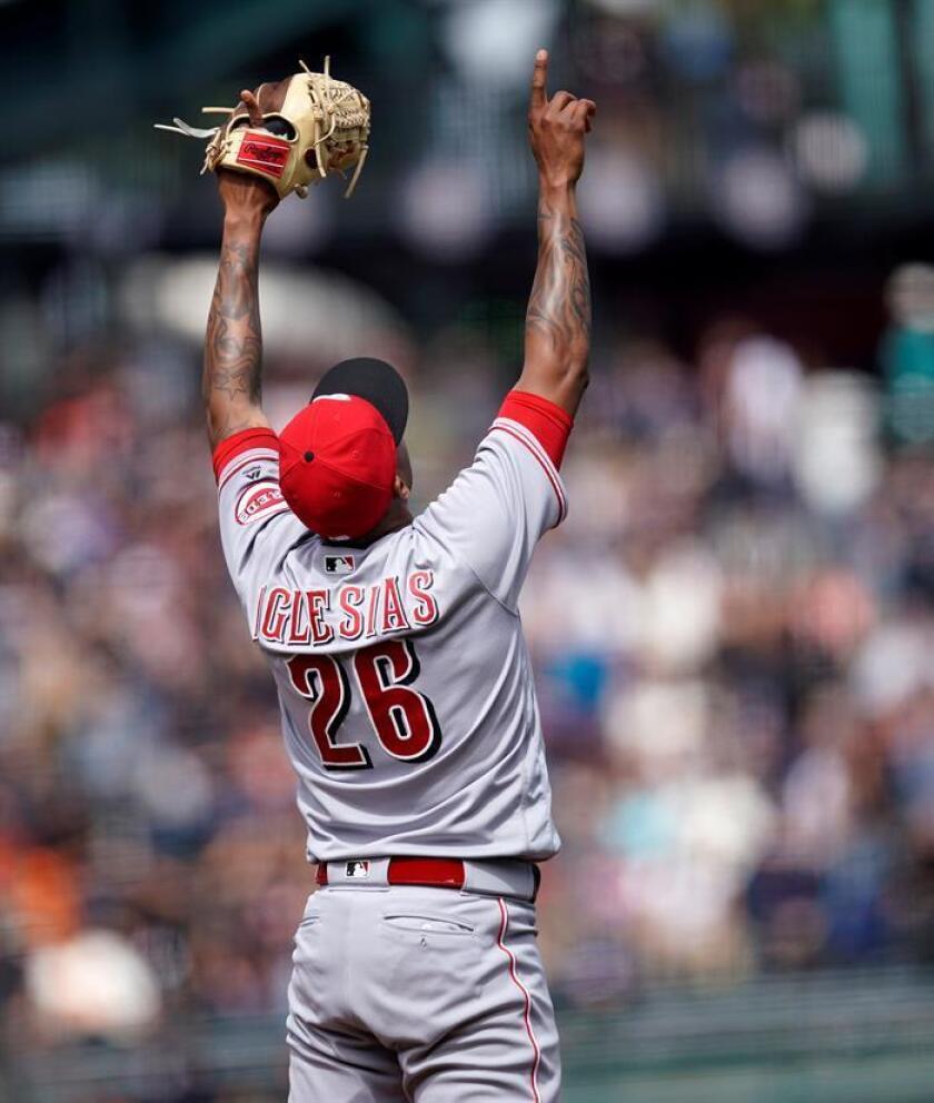 El lanzador Raisel Iglesias de los Rojos de Cincinnati. EFE/Archivo