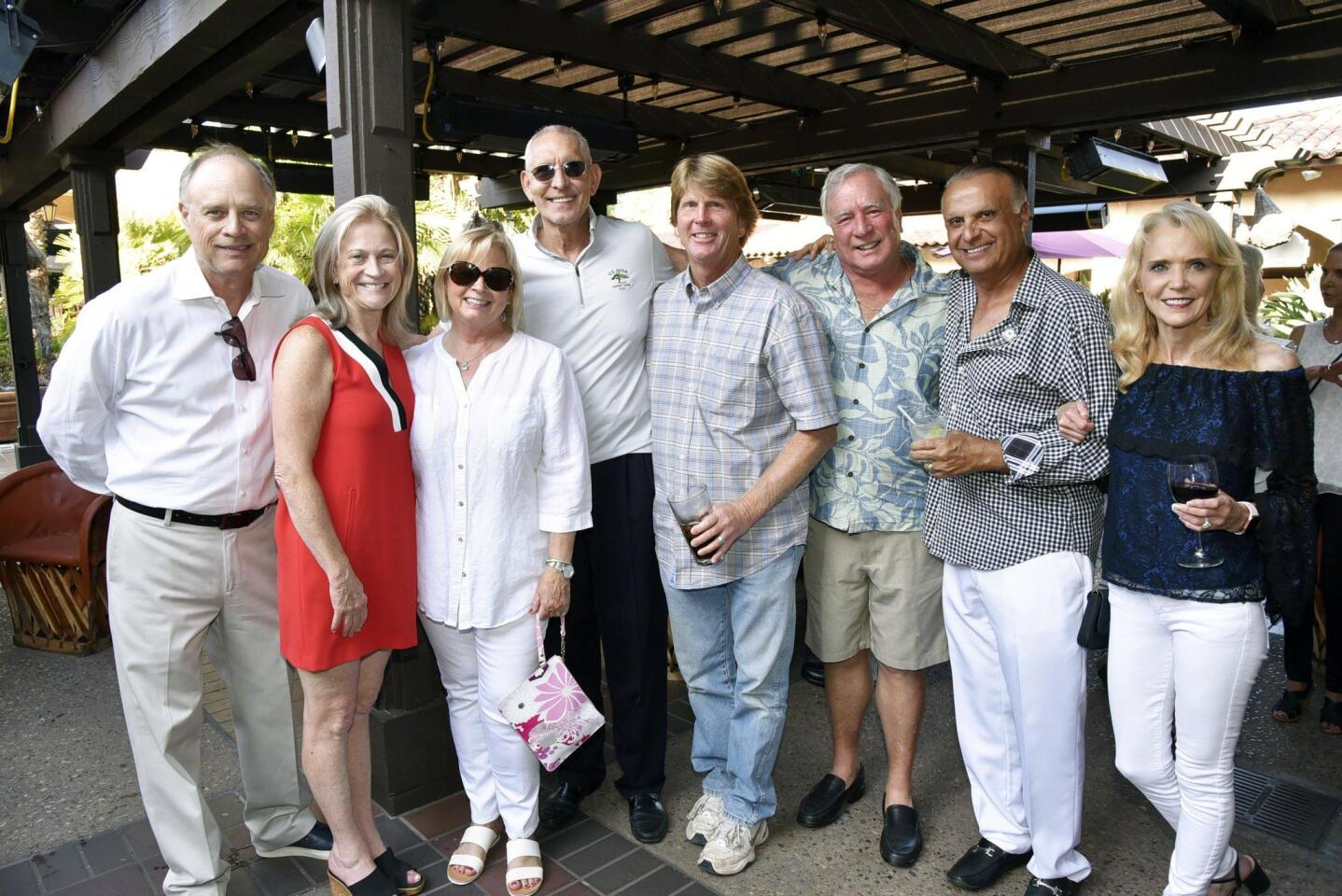 Greg Jackey, Nicky Taylor, Beverly Robinson, Mike Taylor, Chuck Badger, Alan Balfour, RSF Rotary President Elie Feghali and Lori Feghali