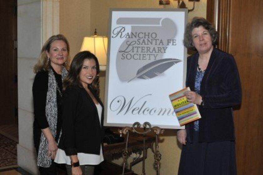 Margaret Gureczny, Maria Assaraf, author Meg Wolitzer. Photo/McKenzie Images