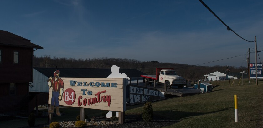 The headquarters of 84 Lumber in Eighty Four, Pa.