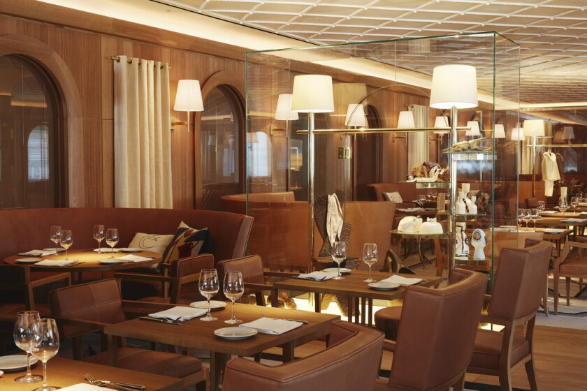 The dining room of L'Avenue, located on the ninth floor of Saks Fifth Avenue.