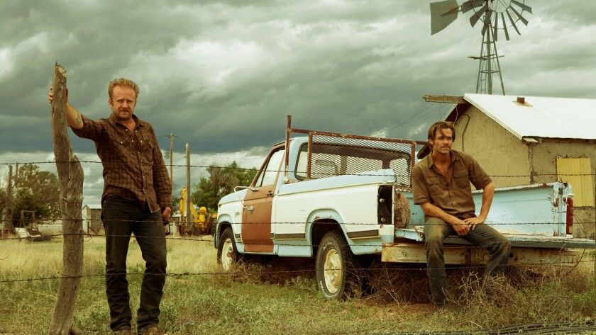 """Ben Foster, left, and Chris Pine in the movie """"Hell or High Water."""""""