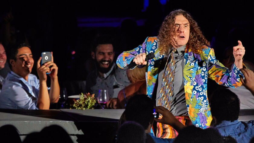 Weird Al Yankovic at the Hollywood Bowl performing the first of two shows.