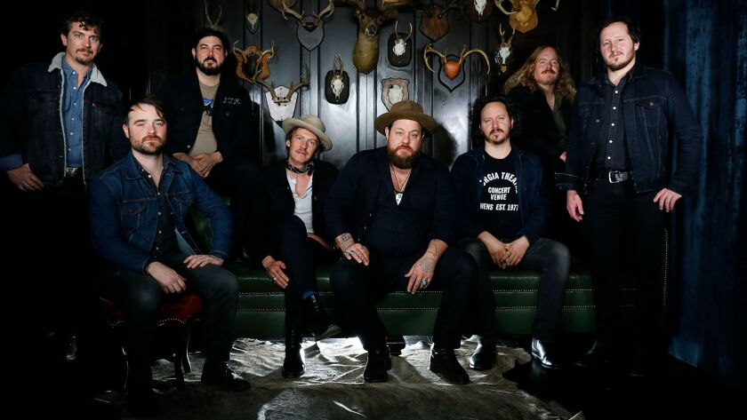 HOLLYWOOD-CA-FEBRUARY 7, 2018: Nathaniel Rateliff & The Night Sweats are photographed at The Hollywood Roosevelt on Thursday, February 7, 2018. (Christina House / Los Angeles Times)