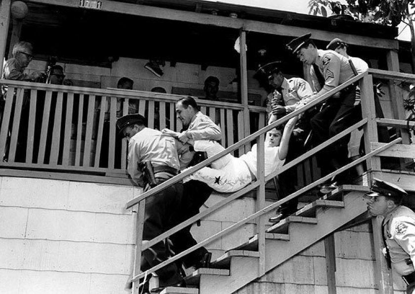 A family is evicted from its Chavez Ravine home on May 8, 1959.