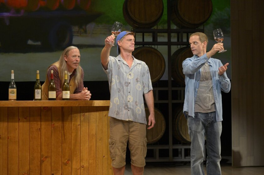 """Mike Sears, Sean Allan Krill and Patrick Breen (left to right) in La Jolla Playhouse's """"Sideways."""""""