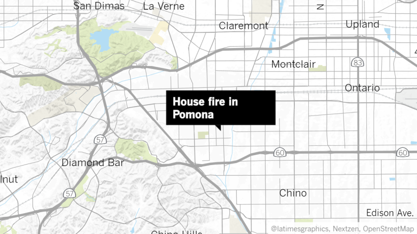 House fire in Pomona