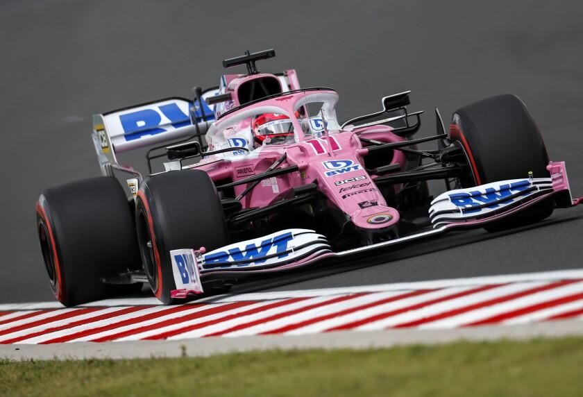 Racing Point driver Sergio Perez