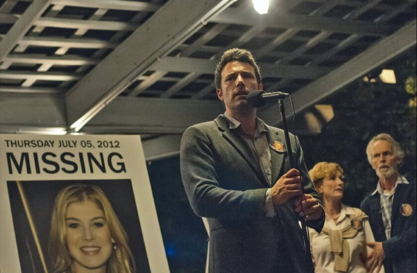 """Ben Affleck stars in """"Gone Girl,"""" which screened at the Samuel Goldwyn Theater for academy members Saturday night."""