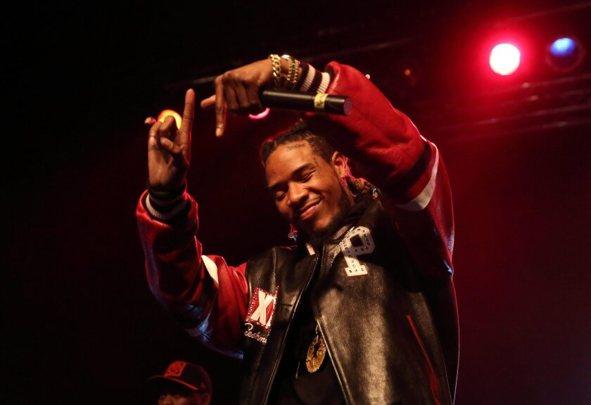 Hip-hop singer Fetty Wap performs in Indianapolis last month.