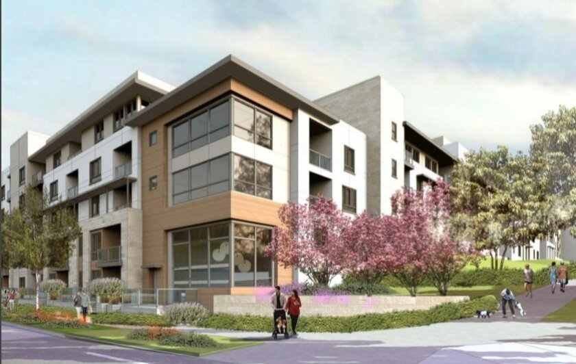 A rendering of the residential element of the proposed One Paseo project.
