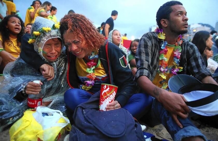 Soccer fans in Rio de Janeiro