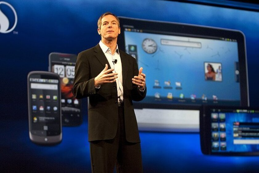 Qualcomm CEO Paul Jacobs speaks at his company's UPLINQ Conference in San Diego on Wednesday, June 30.