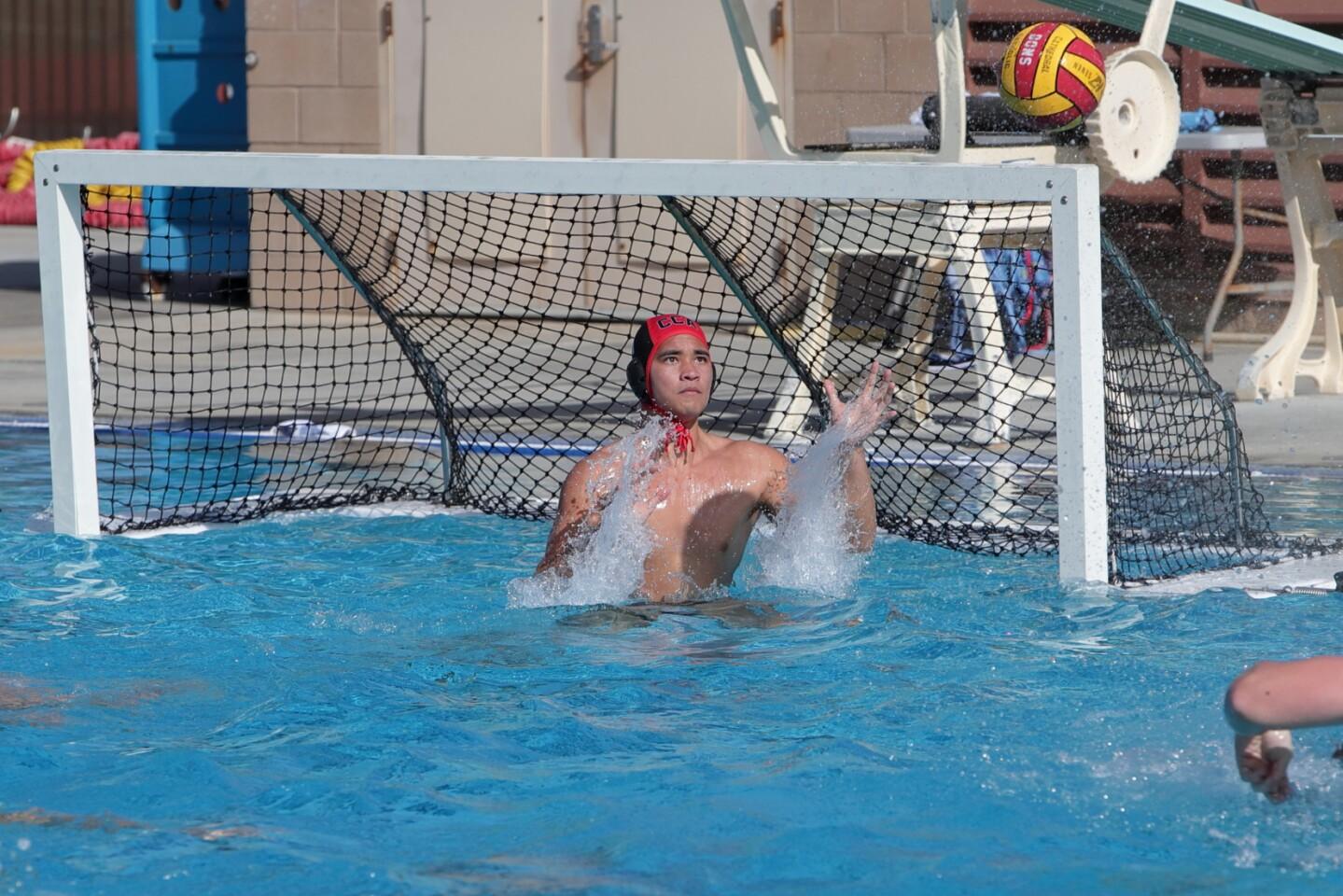 CCA goalie Simeon Dong