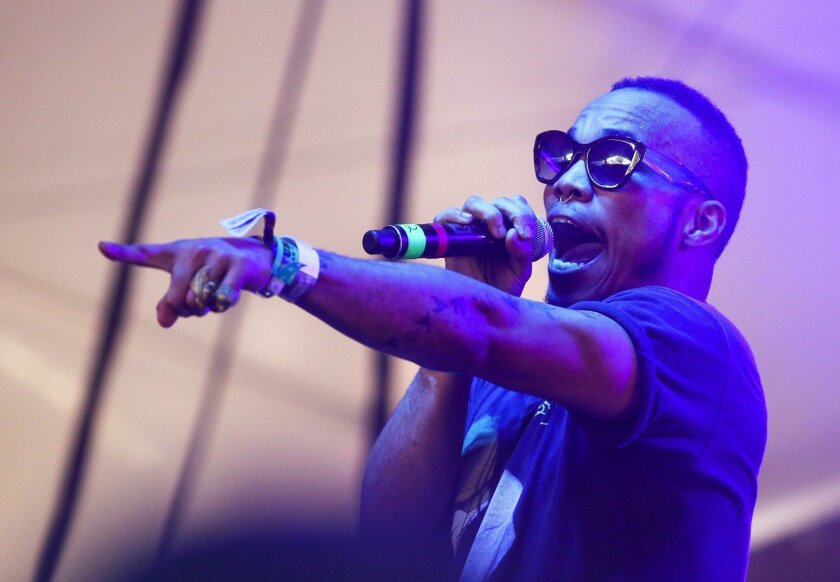 Anderson .Paak performs at the FADER FORT Presented by Converse during the South by Southwest Music Festival on Saturday, March 19, 2016, in Austin, Texas. (Photo by Jack Plunkett/Invision/AP)