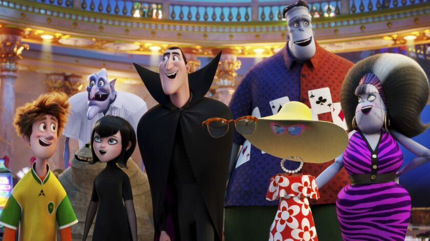 """This image released by Sony Pictures Animation shows a scene from """"Hotel Transylvania 3: Summer Vaca"""