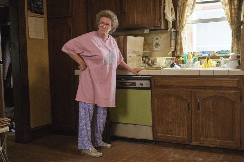 """This image released by Netflix shows Glenn Close in a scene from """"Hillbilly Elegy."""" (Lacey Terrell/Netflix via AP)"""