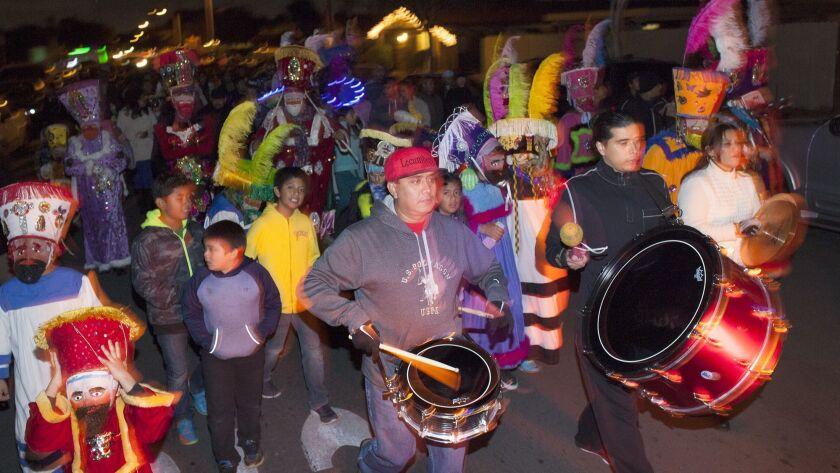 HUNTINGTON BEACH, CA, December 12, 2015 -- Oak View community members celebrate during an annual Vir