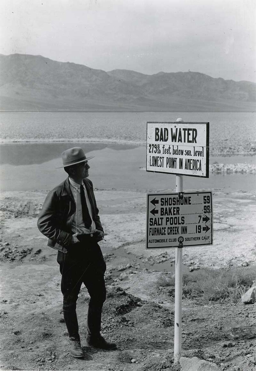 George A. Grant, the first photographer for the National Park Service, took this photograph in Death Valley at Badwater in 1935.