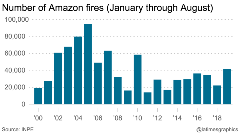 Amazon fires by year