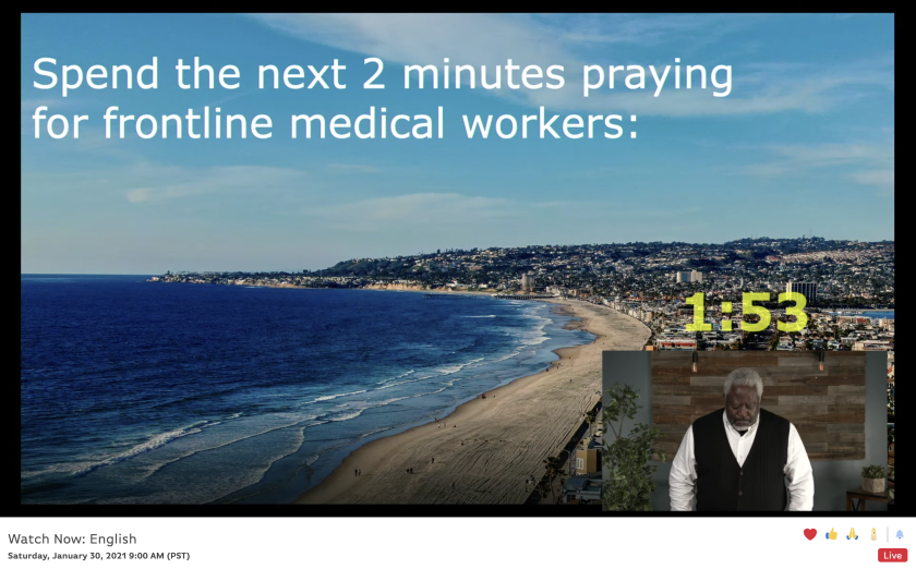 In virtual event, We Pray San Diego hosts guided participants through an hour of prayer.