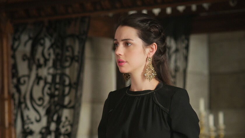 """Adelaide Kane in """"Reign"""" on the CW."""