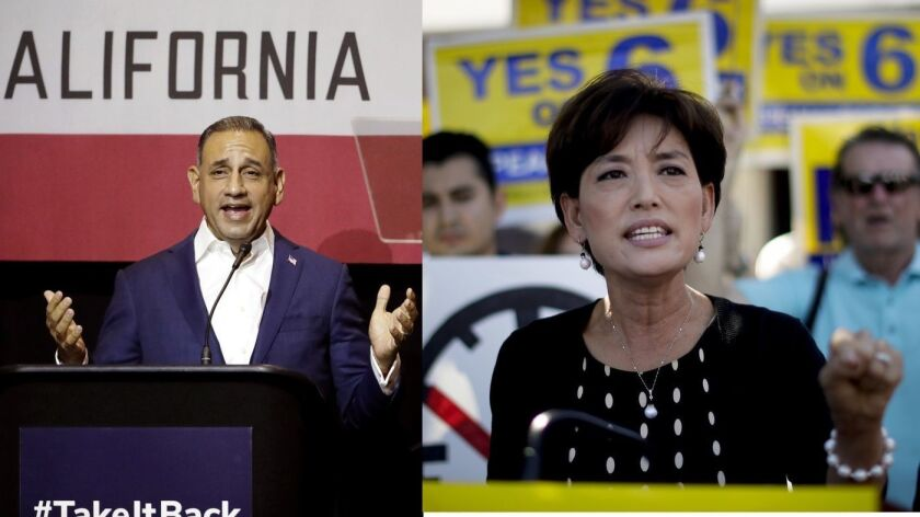 Candidatos para el 39° Distrito Congresal de California, el demócrata Gil Cisneros y la republicana Young Kim compiten para reemplazar al representante Ed Royce (R-Fullerton), próximo a jubilarse.