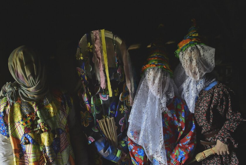 EDS NOTE : SPANISH LAW REQUIRES THAT THE FACES OF MINORS ARE MASKED IN PUBLICATIONS WITHIN SPAIN. EDS NOTE : SPANISH LAW REQUIRES THAT THE FACES OF MINORS ARE MASKED IN PUBLICATIONS WITHIN SPAIN.  A group of participants  called  ''Txatxus'' pose for a photo, during the ancient rural carnival in th