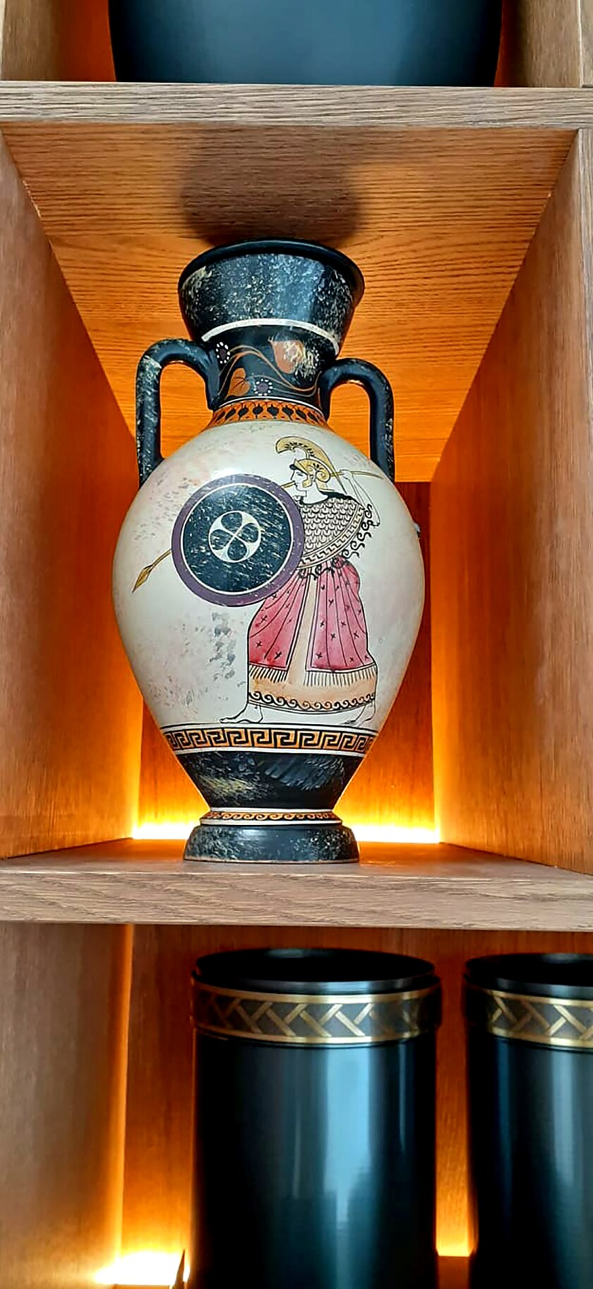 Ritsona Crematorium offers funerary urns, some modeled on ancient Greek designs.