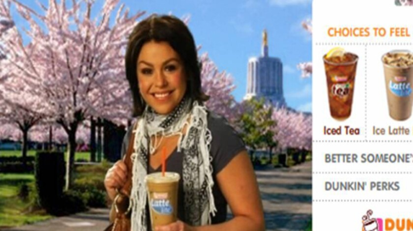 Dunkin' Donuts pulled the above ad after complaints arose regarding Rachael Ray's scarf.